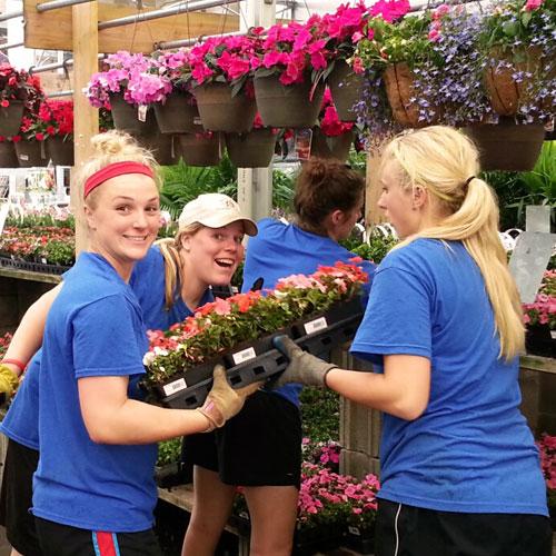 Natural Beauty Merchandising workers